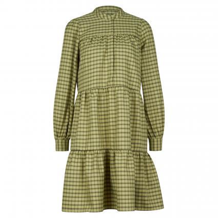 Kleid 'Camillie' mit Karomuster grün (SAGE GREEN) | S