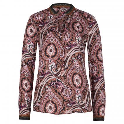 Shirtbluse im All-Over Muster schwarz (997 black brown aop) | 44