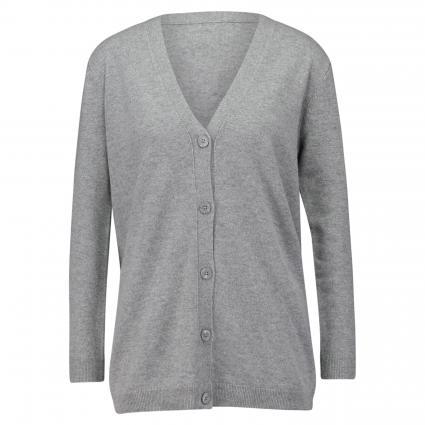 Strickjacke aus Kaschmir grau (grey mel. )   XXL