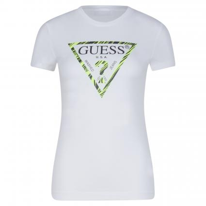T-Shirt 'Ambra' mit Logo Print  weiss (TWHT TRUE WHITE A000)   XS