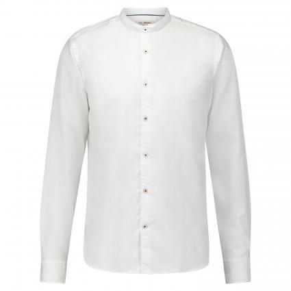 Hemd mit Stehkragen weiss (00 White)   40
