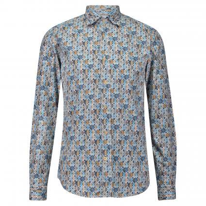 Hemd mit floraler Musterung blau (67 Blue) | 40