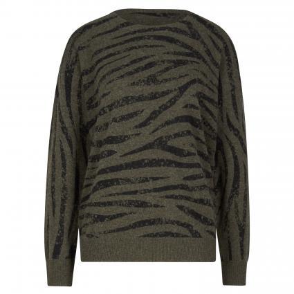 Pullover mit Zebra-Muster oliv (9187 khaki) | 40