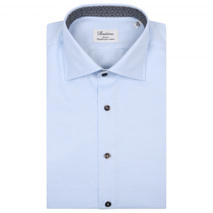 Slim-Fit Hemd mit Hahnentrittmuster blau (100 blau) | 39