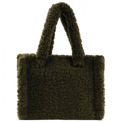 Tasche aus künstlichem Schaffell grün (57900 ARMY GREEN) | 0
