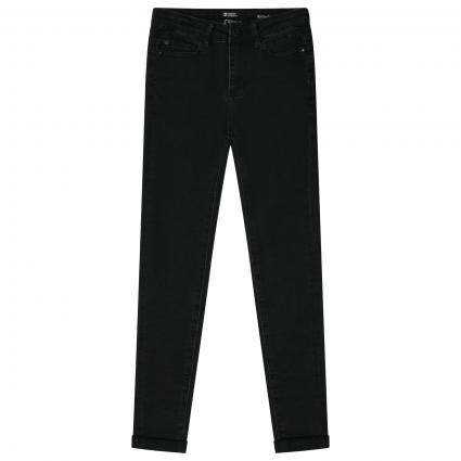 Hight Waist Skinny-Fit Jeans schwarz (156 Black Denim) | 158