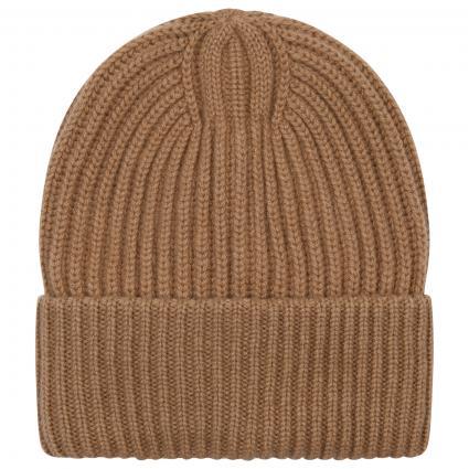 Mütze aus Cashmere gold (8926-GOLD KHAKI) | S