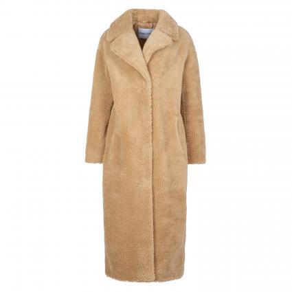 Langer Mantel in Teddyfell-Optik beige (10300 BEIGE) | 38