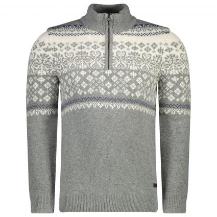 Troyer mit All-Over Muster  grau (GY72 Mid Grey)   M