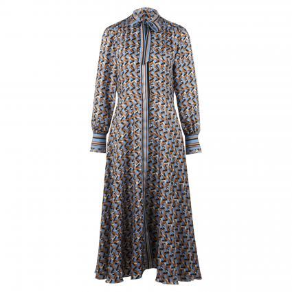 Kleid mit All-Over Muster  blau (FB1 bleu AOP) | 38