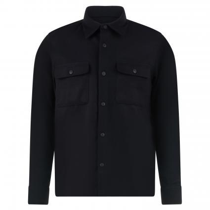 Casual-Hemd 'Sten' aus Wolle schwarz (black) | L