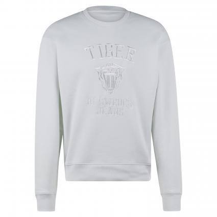 Sweatshirt 'Zoab' mit Logo-Stickerei weiss (09X WHITE LIGHT) | L