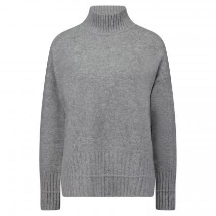 Rollkragenpullover mit Rippenstrickbündchen grau (1031 lt. grey) | 36