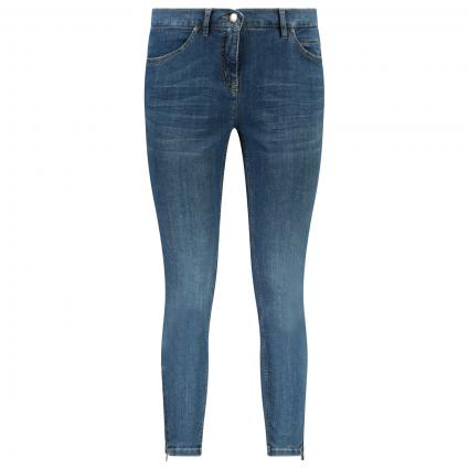 Regular-Fit Jeans mit Reißverschluss an den Beinen blau (584 blue authentic)   46