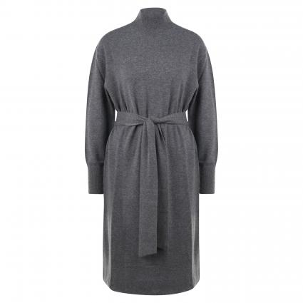 Strickkleid mit Bindegürtel anthrazit (1032 med grey) | 40