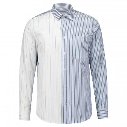 Hemd 'Timothy' mit Streifenmuster weiss (0012 white stripes) | S
