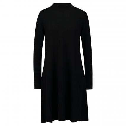 Strickkleid mit Stehkragen schwarz (300 black)   S