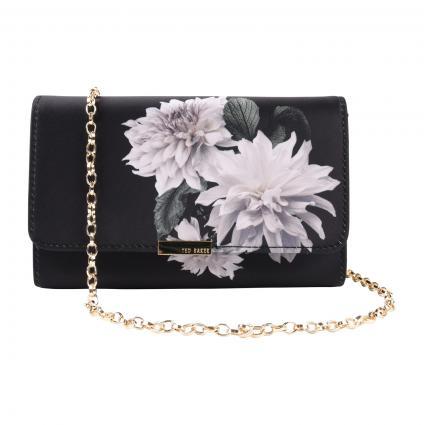 Umhängetasche 'Parya' mit Blumen-Detail  schwarz (BLACK) | 0