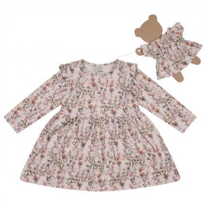 Kleid 'Kelly' mit All-Over Blumen Muster  ecru (3263 White sand) | 62