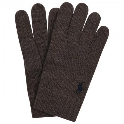 Handschuhe aus reiner Wolle  braun (006 NEWCASTLE BROWN) | 0