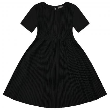 Kleid in Plissee Optik  schwarz (1007 Black) | 152