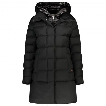 Daunen Jacke mit Kapuze  schwarz (100-BLACK)   M