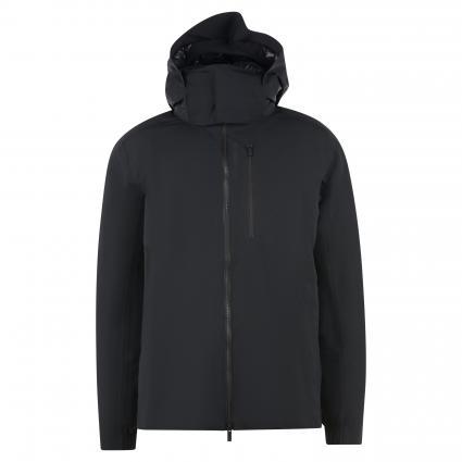 Jacke mit abnehmbarer Kapuze schwarz (schwarz) | S
