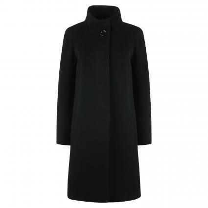 Mantel mit Stehkragen schwarz (1 schwarz) | 44