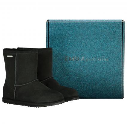 Stiefel 'Brumby' aus Wildleder  schwarz (BLACK) | 29-30