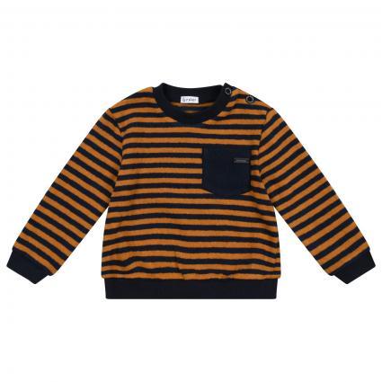 Pullover mit All-Over Streifenmuster  gelb (MUSTARD/NAVY) | 92