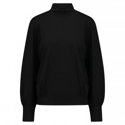 Langarmshirt mit Stehkragen schwarz (1025 black) | 36