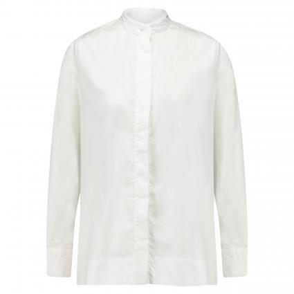 Bluse mit Stehkragen weiss (01 weiß) | 42