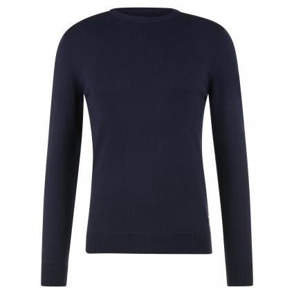 Sweatshirt mit Rippbündchen blau (500) | M