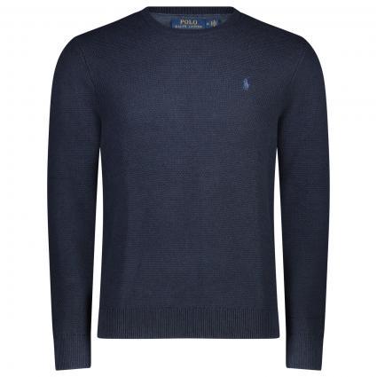Pullover aus reiner Baumwolle  marine (001 NAVY HEATER) | L