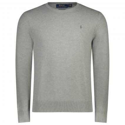 Pullover aus reiner Baumwolle  grau (002 ANDOVER HEATHER) | M