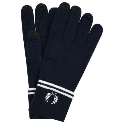 Handschuhe mit besticktem Logo marine (M22 dark navy) | M