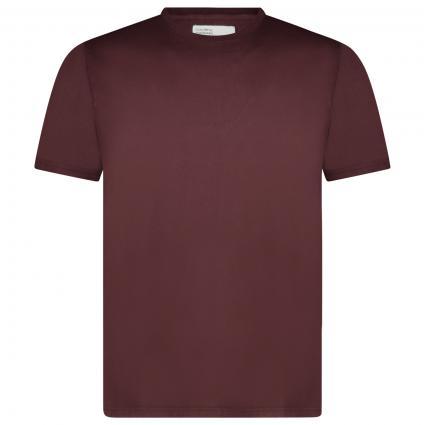 Basic T-Shirt mit Rundhalsausschnitt bordeaux (oxblood red) | S