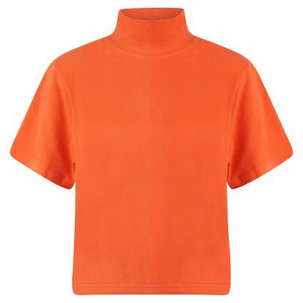 T-Shirt mit Turtle Neck braun (CAPUCINE) | XS/S