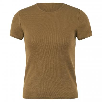 T-Shirt mit Rippstruktur braun (ASPERGE) | M