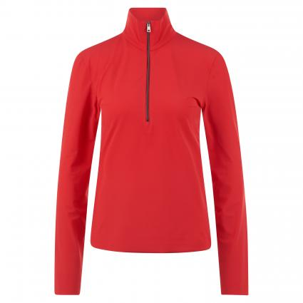 Langarmshirt mit Zipper rot (285 cranberry) | 38