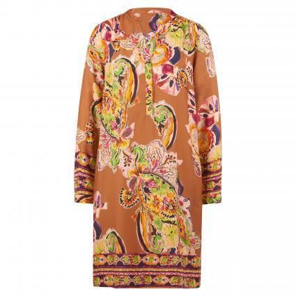 Kleid mit All-Over Muster camel (790 camel floral) | 38