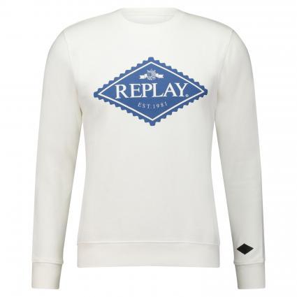 Sweatshirt mit Logodruck weiss (012) | XXL