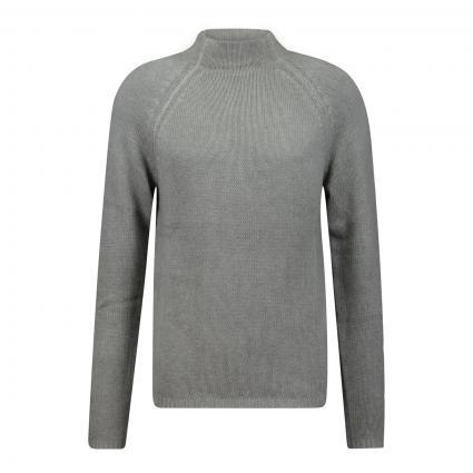 Pullover 'Ruffy' mit Stehkragen grau (779 greige) | S