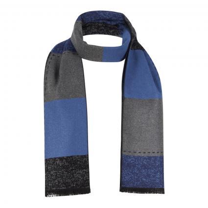 Schal mit Fransendetails blau (6 Blue) | 0
