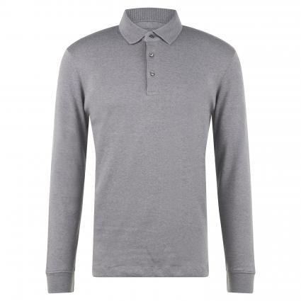 Poloshirt mit langen Ärmeln grau (Melange A Grey) | S