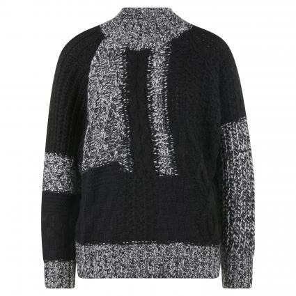 Pullover mit Stehkragen schwarz (COMBO3 BLACK W3BL)   M