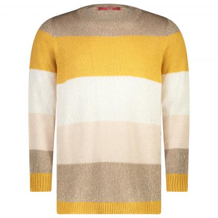 Pullover mit Color-Blocking  gelb (080 GIALLO) | 46