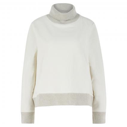 Sweatshirt mit Strickbündchen ecru (2001 milky ) | M