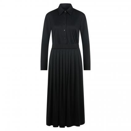 Blusenkleid 'Malyn' mit Faltenrock aus softer Jerseyware schwarz (099 schwarz) | 40