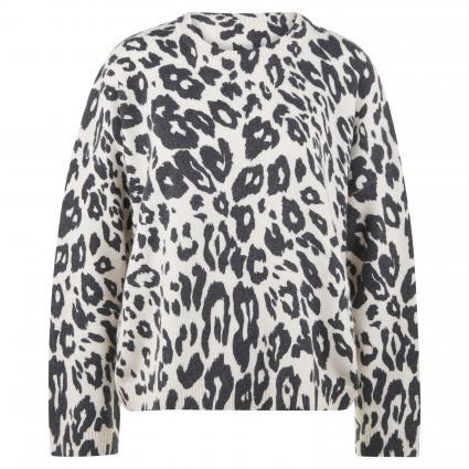 Pullover mit Leomuster ecru (120 ecru) | S